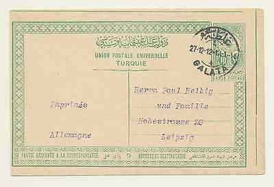 Turkish Off. Postcard; Constantinople to Leipzig, 1912. IsfilaNr. AN106 [#A133]