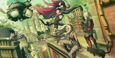 "004 Gravity Rush 2 - Action Fight Game 27""x14"" Poster"
