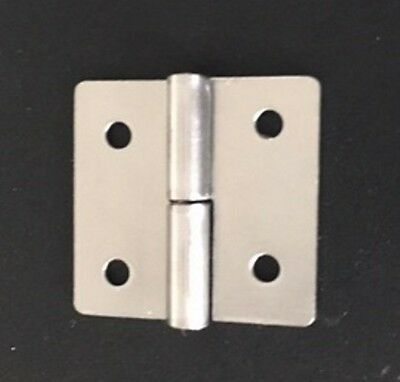 Pack of 10 Small Cabinet Lift Off Butt Hinges (38mm x 40mm)