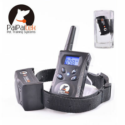 Pet Dog Training Collar Rechargeable Electric LCD 100LV 500M Shock waterproof