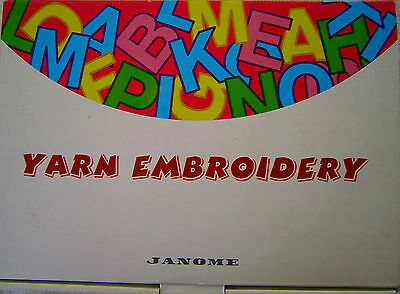 Janome Yarn Embroidery Monogram Kit Alphabet Memory Card New in Box