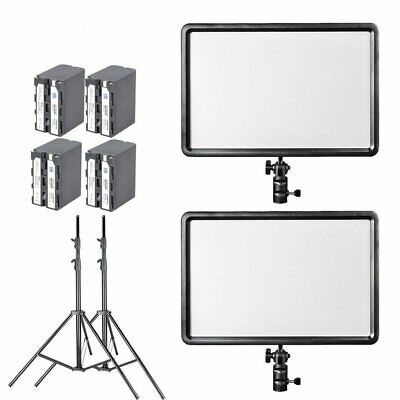 2X Slim Godox 260C 3300K~5600K LED Continuous Light  +4x NP-F550 7200mAh Battery