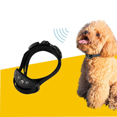 Rechargeable Adjust Electric Anti Bark Pet Dog Stop Barking Training Collar US P