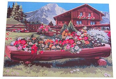 Canvas Tapestry Needlepoint Printed Gobelin Embroidery Enclos Chalet 929.602 New