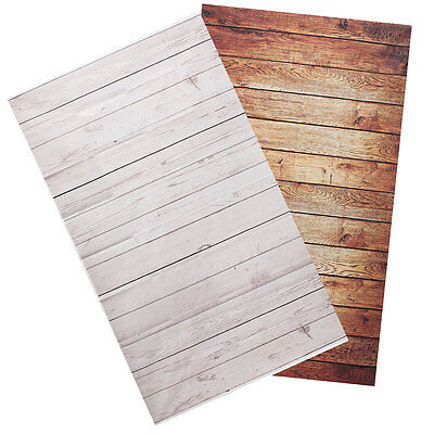 3X5FT Photography Background Studio Photo Props Thin Backdrop Wood Grain Wall US