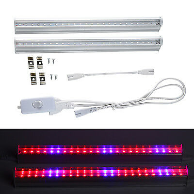 2pcs T5 LED Grow Light Dual Spectrum For Indoor Plants Veg Flower Tube Light