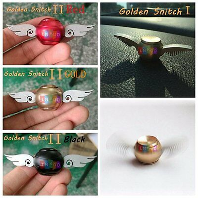 Golden Snitch Harry Potter Quidditch Fidget Spinner Hand Toy Metal