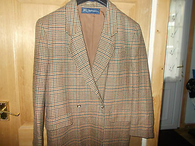 Vintage Burberry Brown Checked Ladies Blazer Size 14/16 Immaculate