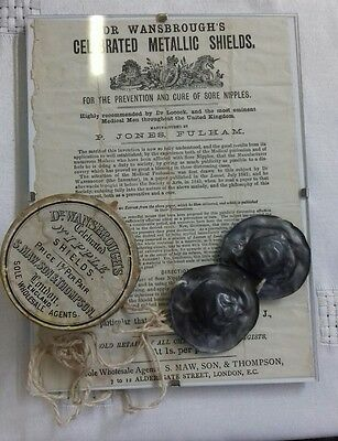 Dr Wansborough Metallic Nipple Shields with box and information