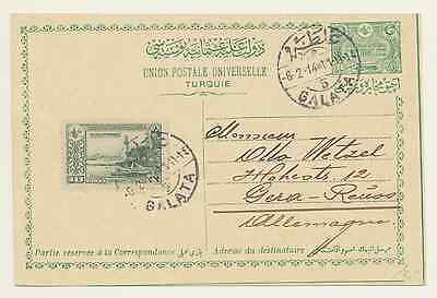 Postcard from Galata/Constantinople/Turkey to Gera/Germany, 1914 [#A120]