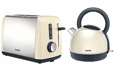 Breville Colour Collection Kettle and 2 Slice Toaster Set, Cream