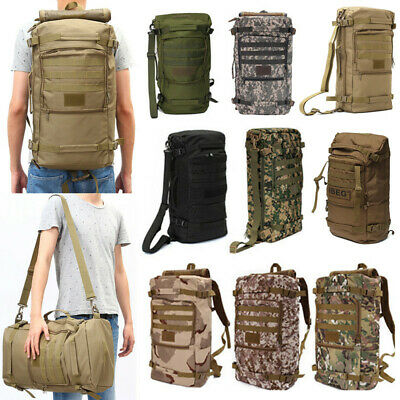 40L 50L Large Military Molle Tactical Mountaineer Backpack Bag Outdoor Camping