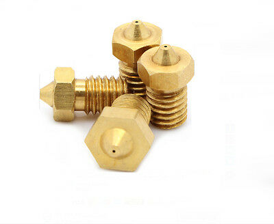 Ugello Nozzle 0.4 mm Estrusore E3D Kit Prusa stampante 3D RepRap 3 mm