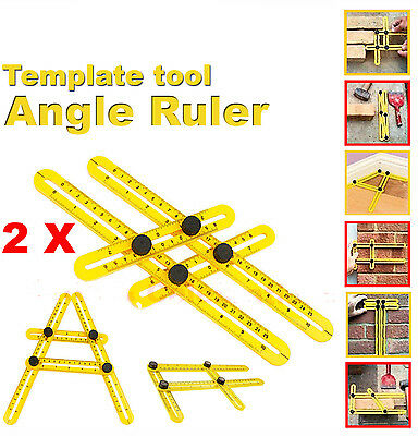Pack of 2 Angle-izer Multi Angle Ruler Template Tool 836 Four Sided Measuring