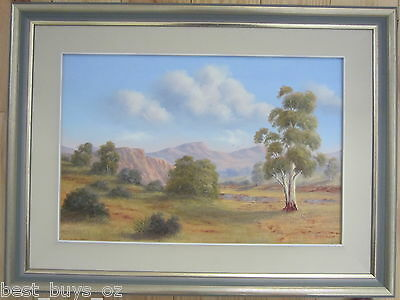 Beautiful Peter McLay oil on board, Willochra Flinders Ranges