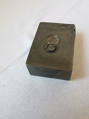 Small pewter snuff box