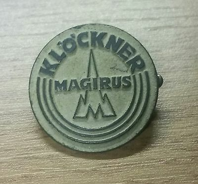 Magirus Klöckner Brooch flourescent varnished 30s Years 25mm stamped Bonn