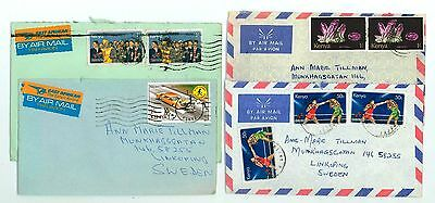 Kenya A59 4 Covers 70s yrs used Air Mail