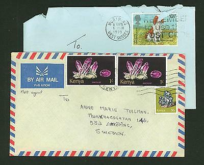 Kenya A64 2 Covers 1979 Air Mail used