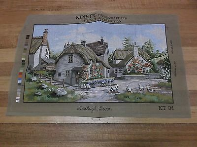 Unworked Large Kinetic Brand Tapestry Canvas. English Cottage