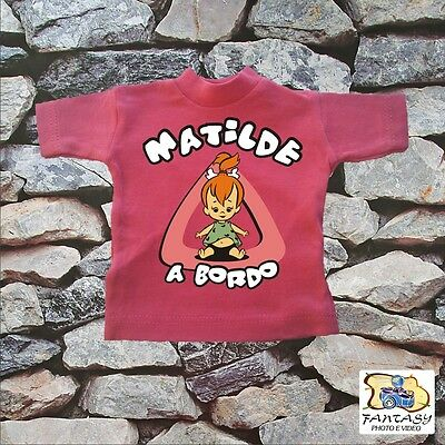 "Mini T-Shirt  Bimbo A Bordo "" Ciotolina ""."