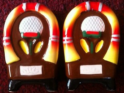 Salt And Pepper Novelty Jukebox Shakers Collectible Ceramics