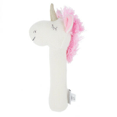 NEW AT Unicorn Knitted Rattle