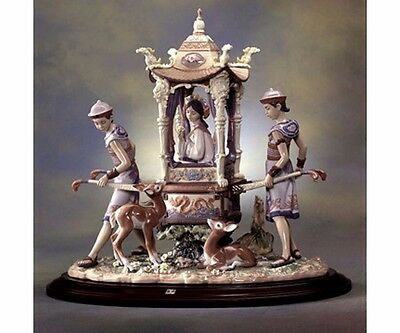 lladro Large Retired In The Emperor's Forest