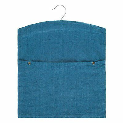 John Lewis Cotton & Linen Petrol Blue Peg Bag with Hanger - CROFT Collection