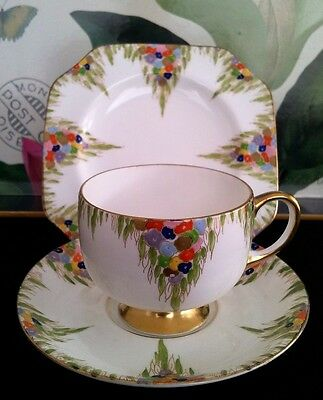 "Carlton China Trio ""bouquet"" #4879 C1925-57"