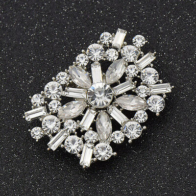 Women Square Flower Clip On Crystal Shoe Clip Clips Jewelry Accessories 1 Pc