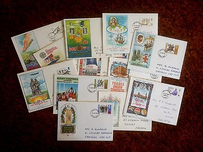 Stamps. Great Britain. Job lot of First Day Covers. 12 envelopes. 1968-1971.