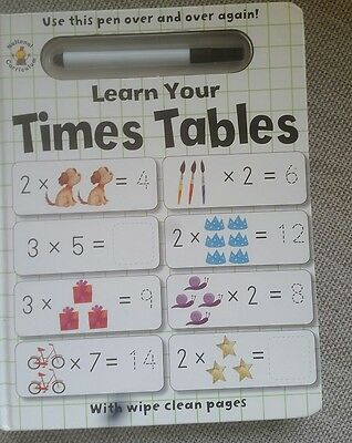 Times Tables Wipe over