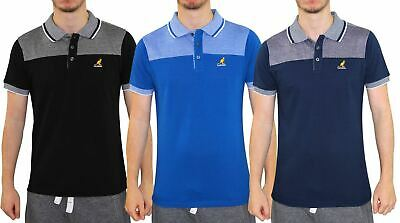 Mens T Shirts Kangol Pique Polo Shirt Summer Contrasted Tops Multi-Color S-2XL
