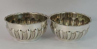 1899 Victorian Sterling Silver Pair of Salt Cellars