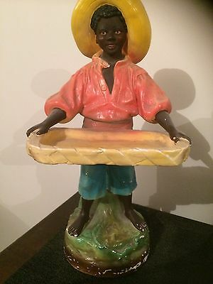 Antique Black Boy Statue