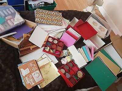 HUGE Job Lot of  Crafting / Card Making Items, card flowers paper punches 700 +