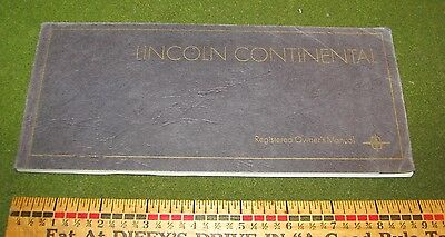 1968 Lincoln Continental Owner Operating Manual Guide Booklet Ford