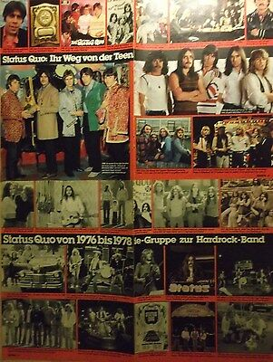 4 german clipping STATUS QUO N. SHIRTLESS ROCK BOY BAND BOYS GROUP PARFITT ROSSI