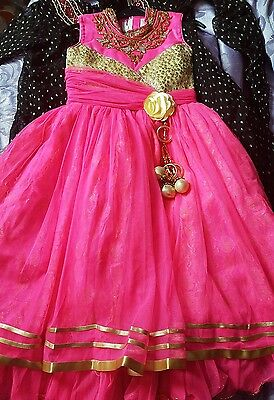 Girls asian indian party EID dress maxi frock weddings size 26