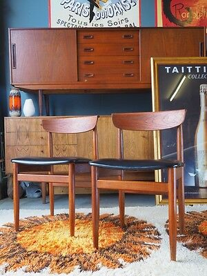 Pair of Mid Century Danish Teak Dining Chairs UK DELIVERY AVAILABLE