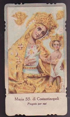 Santino Fustellato Maria Ss Di Costantinopoli Holy Card Image Pieuse Andachtsbil