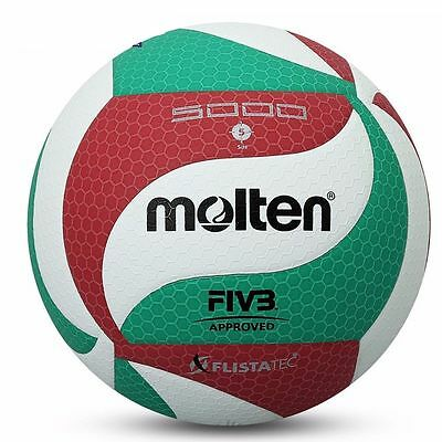 Molten Volleyball Official Ball Indoor Outdoor Volley Game Size V5 M5000 Leather