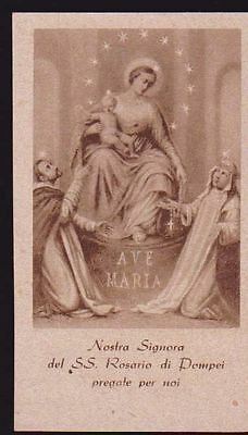Santino N. Signora Del Ss. Rosario Di Pompei Holy Card Image Pieuse Andachtsbild