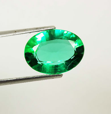 5.50 Ct Natural Certtified Oval Cut Beautiful Colombia Green Emerald Gemstone