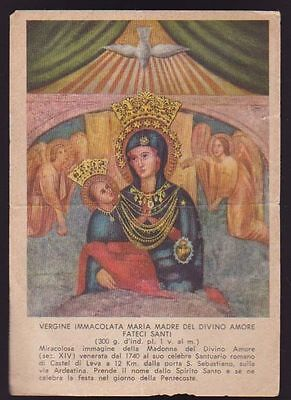 Santino Vergine Immacolata Del Divino Amore Holy Card Image Pieuse Andachtsbild