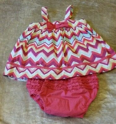 Cute  Baby Girls Sprout Outfit . Size 0.