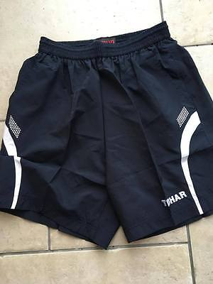 Tibhar Table Tennis Black Tour Shorts