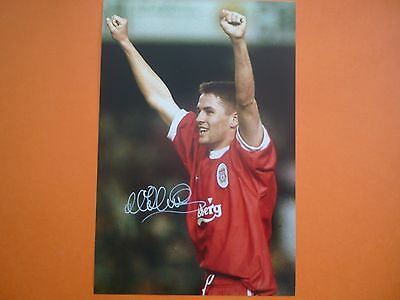 Liverpool Michael Owen hand signed photo 12x8 COA