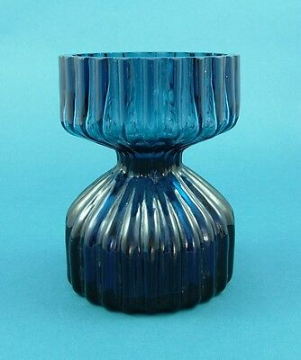 Wedgwood Glass Hyacinth Vase RSW58 in Blue by Ronald Stennett-Willson